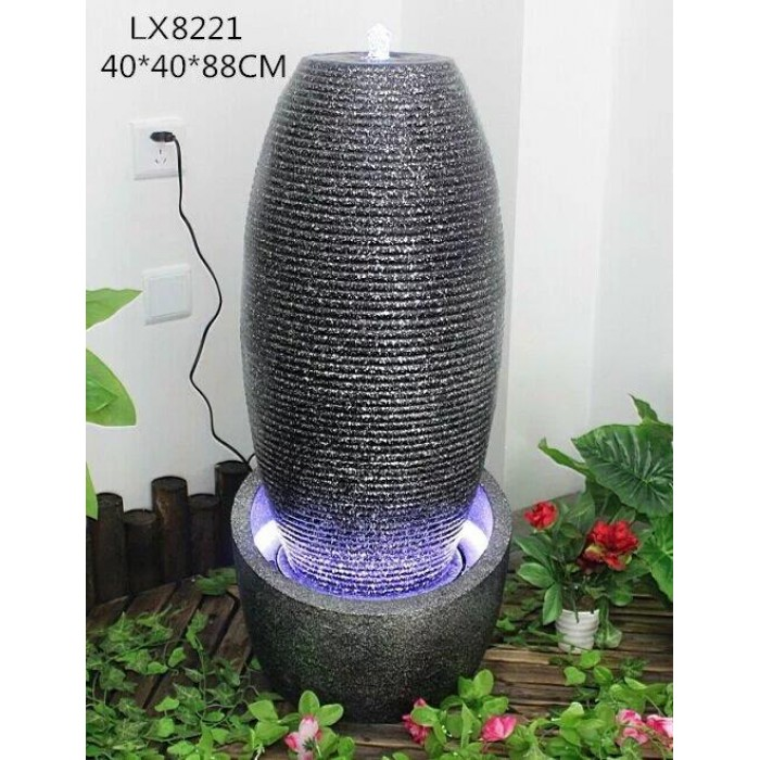 Water Fountain Vase Lx8221 Feng Shui Home Decoration