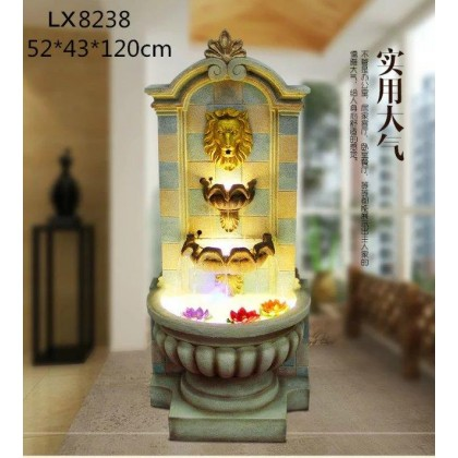 FENG SHUI WATER FOUNTAIN - LION HEAD LX8238 HOME DECORATION
