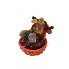 CHINESE FENG SHUI WATER FOUNTAIN - LAUGHING BUDDHA 8033