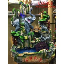 FENG SHUI WATER FOUNTAIN - MOUNTAIN WITH ELEPHANT - LX8908