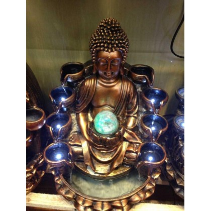 CHINESE FENG SHUI WATER FOUNTAIN - BUDDHA LX3353 - BRONZE COLOUR
