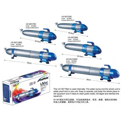 DOPHIN UV OO7 ( 18 W ) UV LIGHT , UV FILTER
