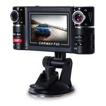 F30 2.7 INCH CAR DVR CAMERA VIDEO DRIVING RECORDER HD DUAL LENS DASHBOARD VEHICLE CAMCORDER G-SENSOR Black