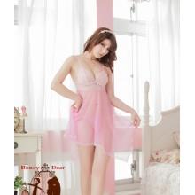 Sexy Pinky Lover Babydoll Dress YW588