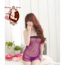 Sexy Purple Tube Dress Babydoll YW599