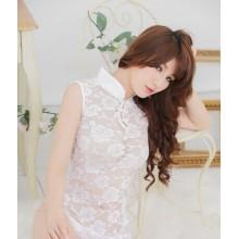 Sexy White Cheongsam Babydoll YW724