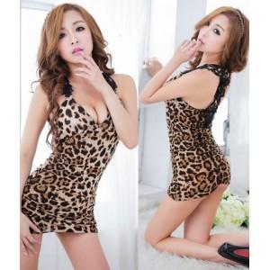 Leopard Lover Sexy Lingerie Babydoll Dress YW537