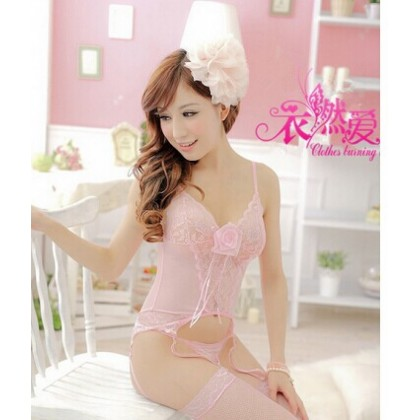 Pink Princess Story Sexy Lingerie Corset Babydoll YW718