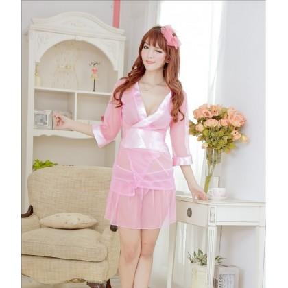 Pinky Peach Sexy Japanese Kimono Babydoll YW563