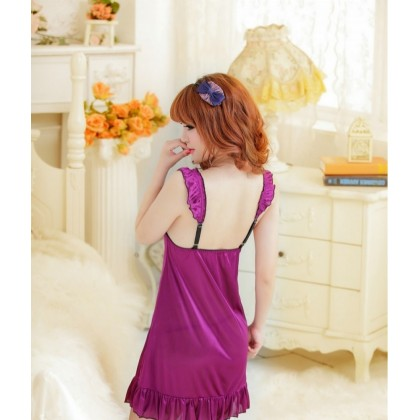 Purple BedTime Naughty Sexy Babydoll Lingerie YW623