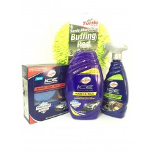 (ORIGINAL) TURTLE WAX® PREMIUM COMBO Pack 2 - WAX,WASH,PROTECTANT+FREE Microfibre Buffing Pad