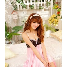 Sexy Babydoll Pink Lingerie Dress YW180