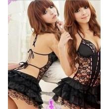 Sexy Black Corset Babydoll YW621