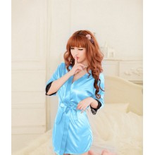 Sexy Blue Romance Japanese Robes K0023BL