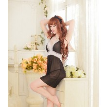 Sexy Creamy Babydoll Lingerie Dress YW027