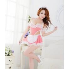 Sexy Flirty Maid Costume Babydoll (2colors) YW750