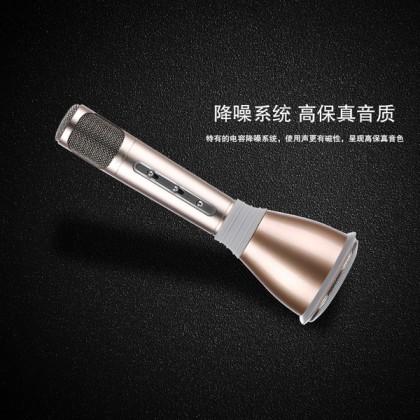 TUXUN K068 Karaoke Wireless Bluetooth Speaker Microphone Mic GOLD / PINK