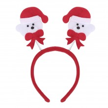 (10 UNITS) FASHIONABLE CHRISTMAS GIFT CARTOON ELASTIC HEADWEAR DOUBLE HEAD (LITTLE BEAR) Little Bear