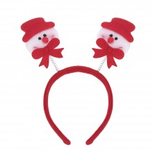FASHIONABLE CHRISTMAS GIFT CARTOON ELASTIC HEADWEAR DOUBLE HEAD (SNOWMAN) Snowman