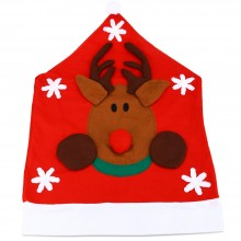 SANTA CLAUS SNOWMAN CHRISTMAS HAT CHAIR COVER (DEER) Deer