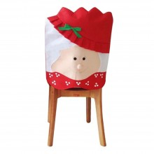 CHRISTMAS CHAIR COVER WITH MR SANTA CLAUS FOR DINNER DECOR (MS. SANTA CLAUS) Ms. Santa Claus
