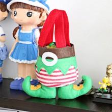 CHRISTMAS CANDY BAG ELF SHAPED GIFT BAG CHRISTMAS (GREEN) Green