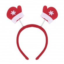 (10 UNITS) FASHIONABLE CHRISTMAS GIFT CARTOON ELASTIC HEADWEAR DOUBLE HEAD (GLOVE) Glove