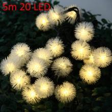 CHRISTMAS TREE DECORS 5M 20 LED SOLAR STRING (WARM WHITE LIGHT) Warm White Light