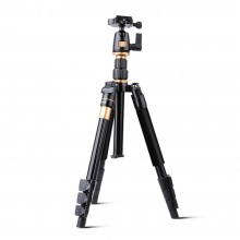 QZSD Q555 55.5 INCHES ALUMINIUM ALLOY CAMERA VIDEO TRIPOD (BLACK) Black