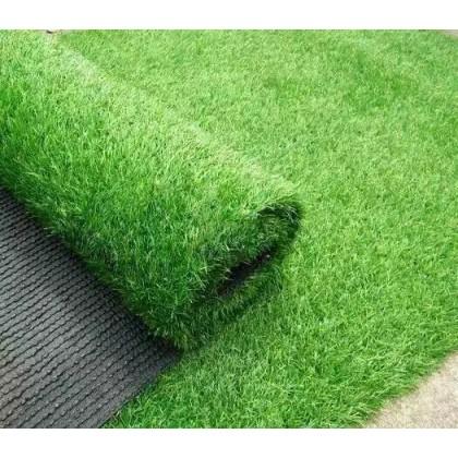 25MM ARTIFICIAL GRASS, FAKE GRASS, CARPET (1M X 1M) (DRY+GREEN)