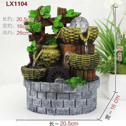 FENG SHUI TABLE TOP WATER FOUNTAIN FEATURES 1104 DECORATION SET