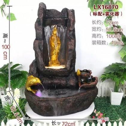 FENG SHUI WATER FOUNTAIN - GUAN YIN BUDDHA 16870 HOME DECORATION
