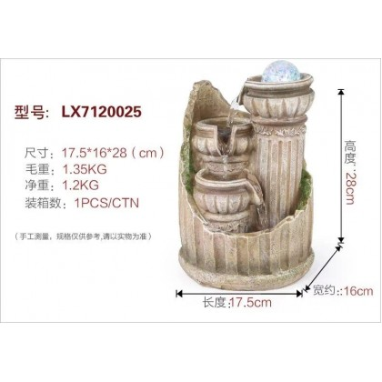 FENG SHUI HOME WATER FOUNTAIN 7120025 TABLE TOP INDOOR DECORATION