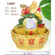 CHINESE FENG SHUI WATER FOUNTAIN - 057 LAUGHING BUDDHA GIFT SET