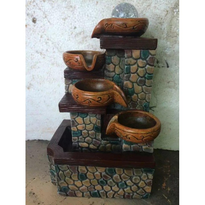 FENG SHUI WATER FOUNTAIN 1641 WATER POT FLOW HOME DECORATION