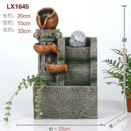 FENG SHUI WATER FOUNTAIN - 1645 WATER POT FLOW HOME DECO