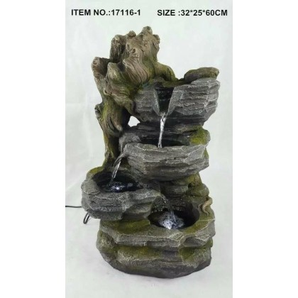 FENG SHUI WATER FOUNTAIN - 17116-1 MOUNTAIN OFFICE HOME DECO