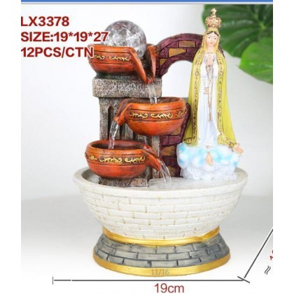 CHRISTIAN FENG SHUI TABLE TOP WATER FOUNTAIN LX3378 OFFICE HOME DECO