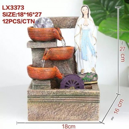 CHRISTIAN FENG SHUI TABLE TOP WATER FOUNTAIN LX3373 HOME DECORATION