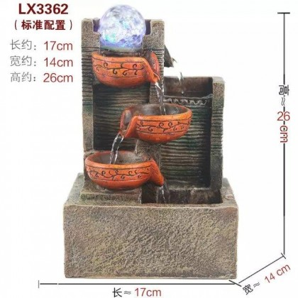 FENG SHUI TABLE TOP WATER FOUNTAIN LX3362 HOME DECORATION