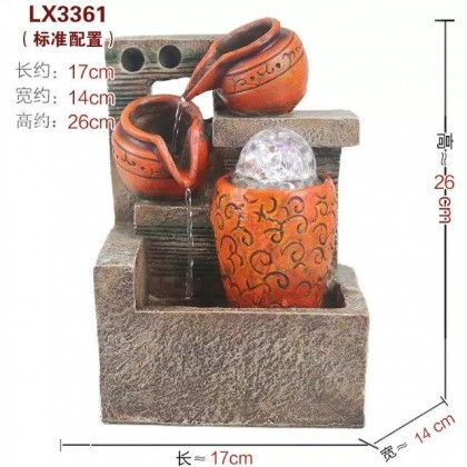 FENG SHUI TABLE TOP WATER FOUNTAIN LX3361 OFFICE DECORATION