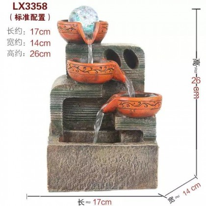 FENG SHUI TABLE TOP WATER FOUNTAIN LX3358 OFFICE DECORATION