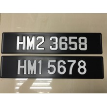 Car Numberplate 3D Aluminium Plate type (JPJ Pass) 2pcs