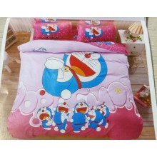 6 in 1 Set Quality 800TC Doraemon Bedding Bed Sheet Queen King Size