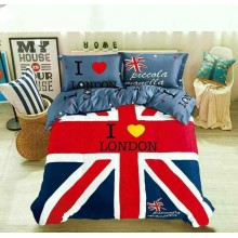 5 in 1 Set Quality 1200TC England London Bedding Bed Sheet Queen King Size