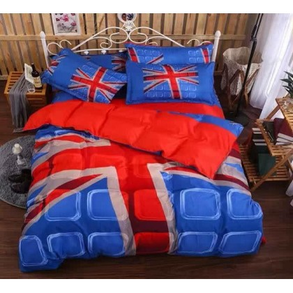 6 in 1 Set Quality 800TC England London Bedding Bed Sheet Queen King Size