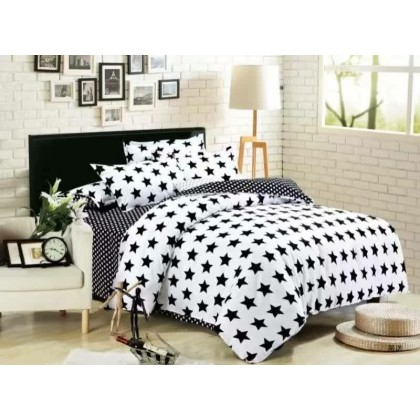 6 in 1 Set Quality 800TC Galaxy Star Bedding Bed Sheet Queen King Size