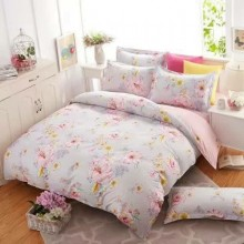 5 in 1 Set Quality 800TC Flower Bedding Bed Sheet Queen King Size