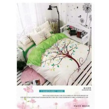 5 in 1 Set Quality 800TC Fashion Tree Design Bedding Bedsheet Queen King Size