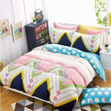 6 in 1 Set Quality 800TC Amazing Colourful Bedding Bed Sheet Queen King Size